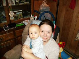 Mommy (Kristen) and baby boy (Matoskah), he is about 9 months old.